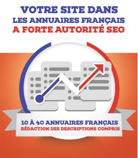 Soumission dans 10 à 40 annuaires français à forte autorité