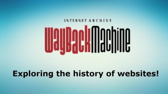 Tout sur la Wayback Machine